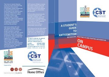 A Student's Guide to Antisemitism on Campus - Community Security ...