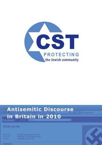 Antisemitic Discourse in Britain in 2010 - Community Security Trust