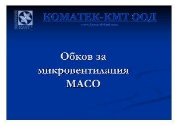 Обков за микровентилация MACO - Фирма КОМАТЕК-КМТ ООД