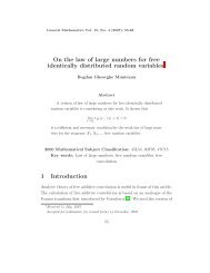 On the law of large numbers for free identically distributed random ...