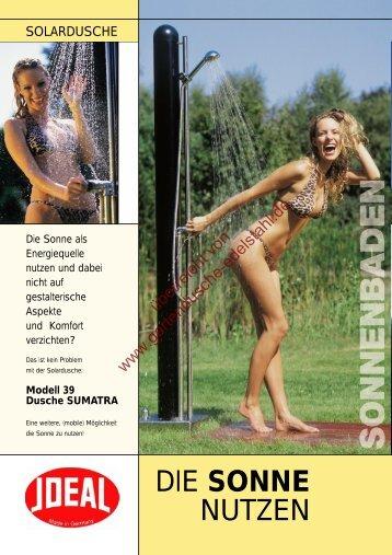 Modell 39 Dusche SUMATRA - Gartendusche aus Edelstahl