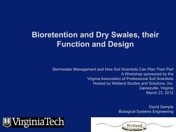 Bioretention and Dry Swales