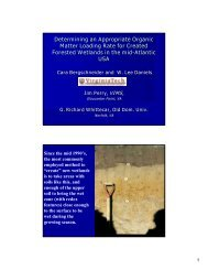 Effects of Organic Matter Additions on Mitigation Site Soils
