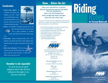 Riding Rules Bro.2005 - Personal Watercraft Industry Association