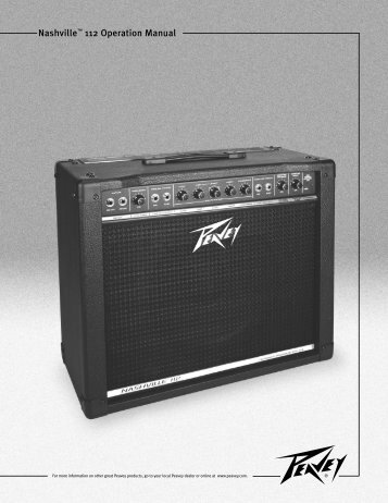Nashville 112 Operation Manual - Peavey