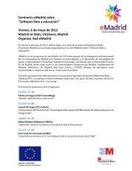 """Seminario eMadrid sobre """"Software libre y educación"""" Viernes, 6 de ..."""