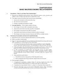CHAPTER EIGHT BASIC MACROECONOMIC RELATIONSHIPS