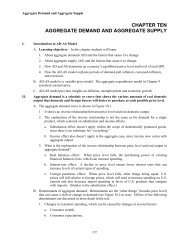 CHAPTER TEN AGGREGATE DEMAND AND AGGREGATE SUPPLY