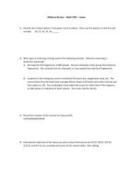 Mrs  Nguyen – Midterm Review Packet – page 1 Honors