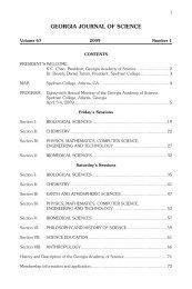 georgia journal of science - Faculty & Staff, Georgia Perimeter College