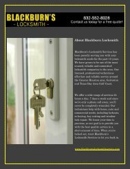 Pasadena locksmith services
