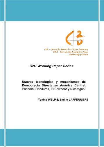 Nuevas tecnologías y mecanismos de Democracia Directa en ... - C2D