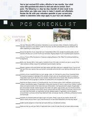 a PCS checklist