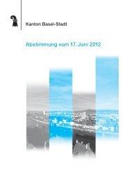 Abstimmung vom 17. Juni 2012 - Regierungsrat - Kanton Basel-Stadt