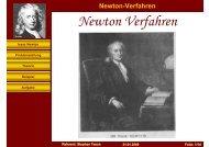 Newton Verfahren - Stephan Tesch