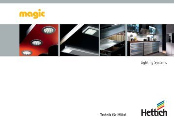 Catalogue Magic - Lighting Systems - Hettich