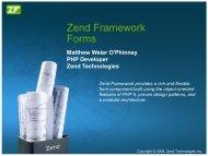 Zend Framework Forms