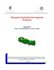 SSDP - Appendix Karnali - Govinda Entwicklungshilfe e.V.