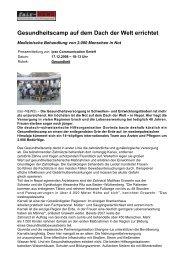Gesundheitscamp auf dem Dach der Welt errichtet - Govinda ...