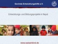 Entwicklungs- und Bildungsprojekte in Nepal - Govinda ...