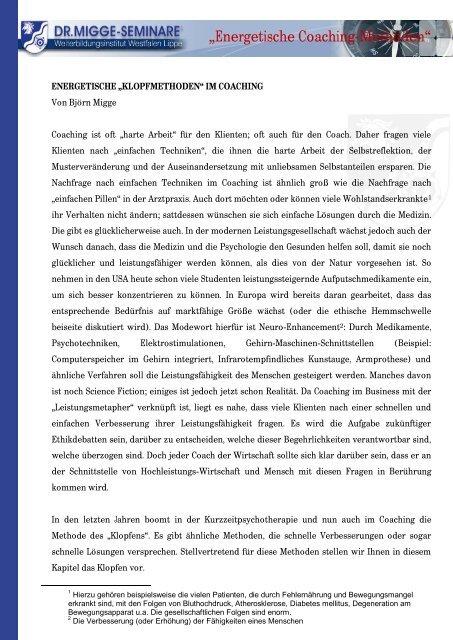 """""""Energetische Coaching-Methoden"""" - zur Coaching-Ausbildung"""
