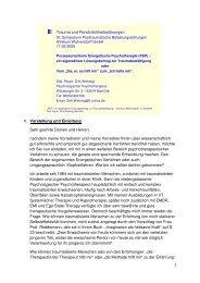 Dirk Wehrsig: Vortrag zur Prozessorientierten ... - Frauke Huppertz