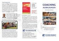 Coaching-Information von Björn Migge - zur Coaching-Ausbildung