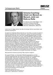 Schema-Coaching: Arbeit von Mensch zu Mensch, nicht von Rolle ...