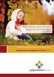 Coaching-Ausbildung SIC 13-2 - zur Coaching-Ausbildung