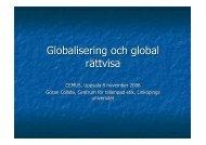 föreläsningsslides för Globalisering och rättvisa