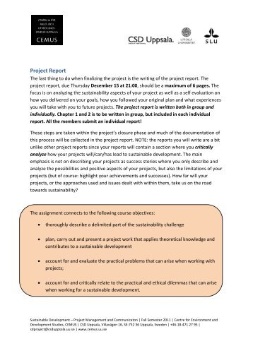 unpublished project report template 2 rssb