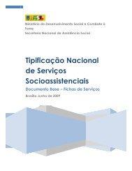 Tipificação Nacional de Serviços Socioassistenciais - Assistência e ...