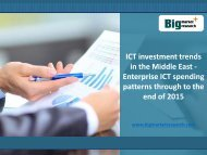 ICT Investment Trends in the Middle East Enterprise Market : Spending Patterns through to the end of 2015