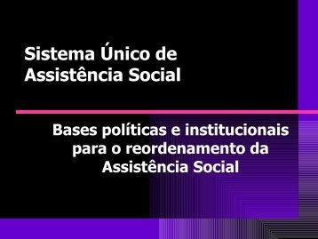 Sistema Único de Assistência Social - AMAVI :: Associação dos