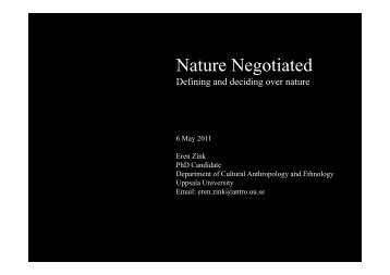 Nature Negotiated