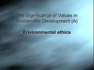 The Significance of Values in Sustainable Development (A ...