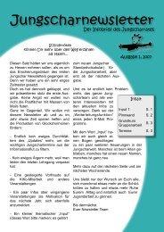 Jungscharnewsletter Ausgabe 1 2007 - Kinderwerk