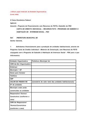Carta Proposta PSH - Amavi