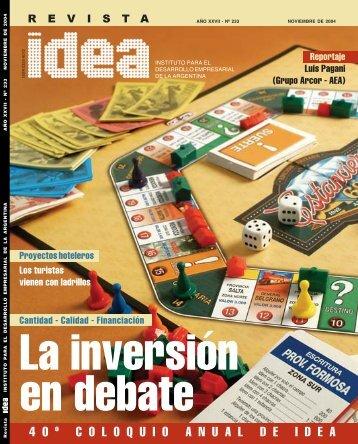 La inversión en debate - Diseño Gráfico Ribeiro