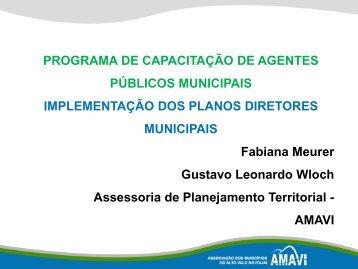 Implementação dos Planos Diretores Municipais - AMAVI