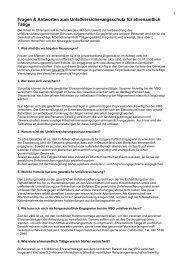 Fragen zum Unfallversicherungsschutz für ehrenamtliche Tätigkeit