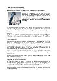 Novellierung Trinkwasserverordnung 2011
