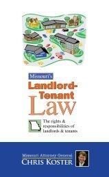 Missouri's Landlord-Tenant Law - Missouri Attorney General