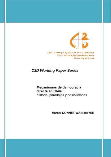 Mecanismos de democracia directa en Chile: historia ... - C2D