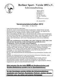 Berliner Sport - Verein 1892 e.V. - bsv92-schwimmen.de