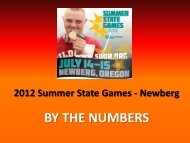 BY THE NUMBERS - Special Olympics Oregon