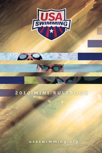 USA Swimming Mini Rule Book - Blue Wave Swim Team