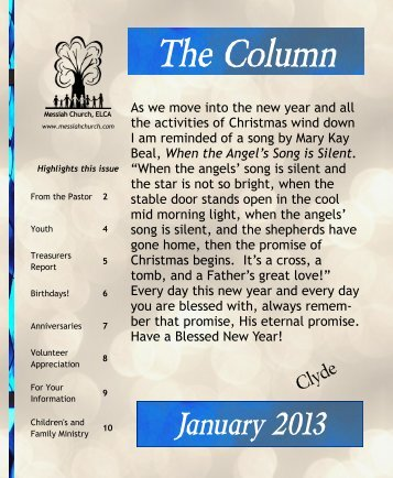 The Column - Messiah Church – ELCA