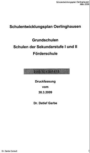 Schulentwicklungsplan Oerlinghausen - Freie Wähler Oerlinghausen