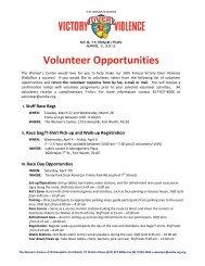 Volunteer Opportunities - Victory Over Violence